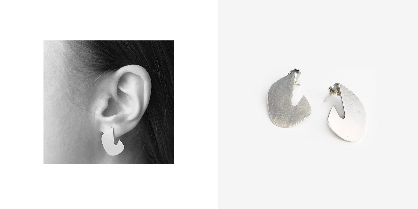 89b61e88a Nia Dana. The Ryn earrings are a bold piece with a lot of character. Made  from sterling silver, their matte finish adds to their contemporary look.
